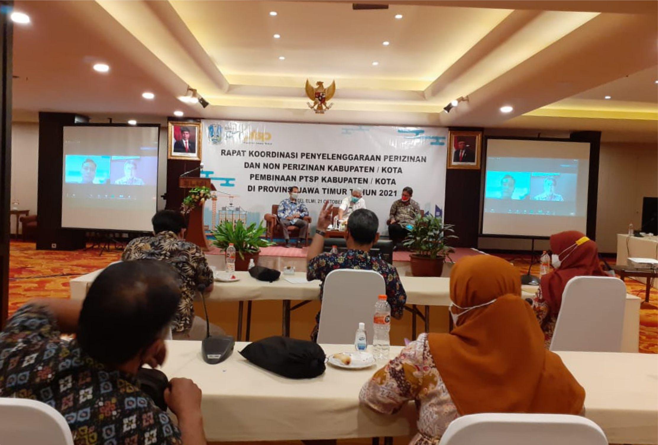 Rakor Penyelenggaraan Perizinan dan Non Perizinan Kabupaten/Kota se-Jatim